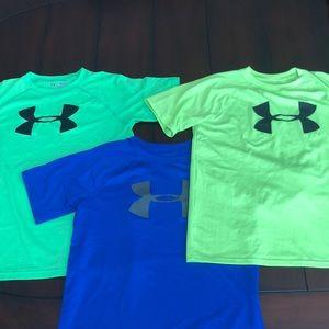 3 Boys Under Amour Shirts Size: Youth Large